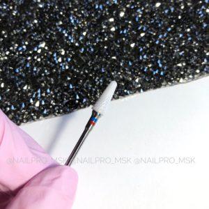 Керамическая фреза для снятия материала красно-синяя, конус
