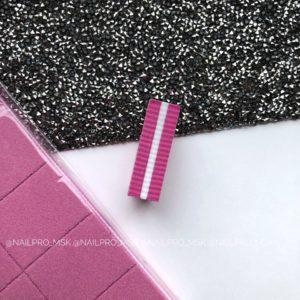Мини-баф для маникюра 100/180 грит, розовый