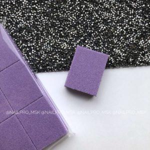 Мини-баф для маникюра 100/180 грит, фиолетовый.