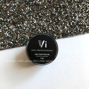 Гель-краска Vinail с липким слоем черная, 5 мл