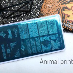 Пластина для стемпинга «Crazy story», Animal print 3