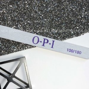 Пилка OPI прямая  на вспененной основе 100/180 грит