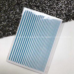 Гибкие ленты 3D неон, голубые