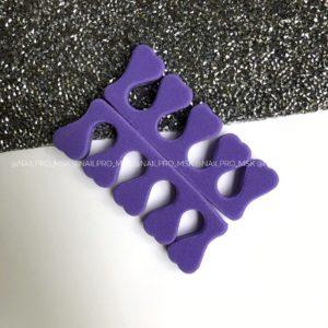 Разделители для пальцев ног, фиолетовые 2