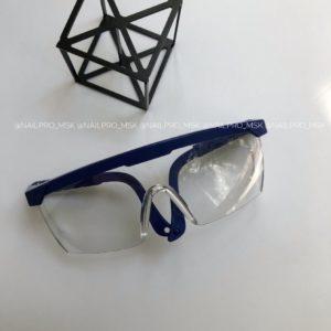 Очки защитные для глаз, синие