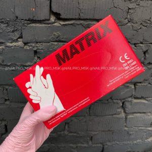 Перчатки нитриловые Matrix 100 шт розовые, размер М