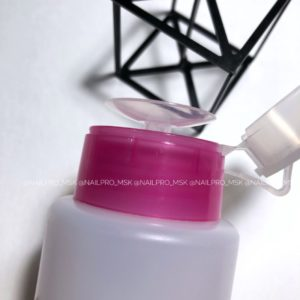 Дозатор-помпа с розовым ободком