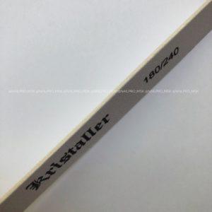 Пилка Kristaller овал прямая 180/240 грит, белая