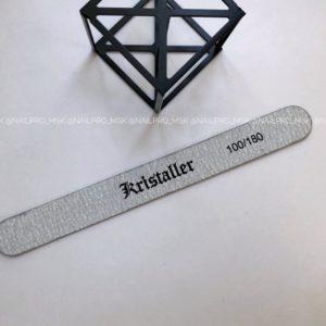 Пилка Kristaller овал прямая 100/180 грит, серая