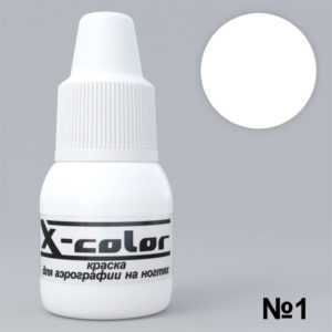 Краска для аэрографии X-Color №001 белая, 6 мл.