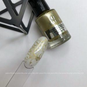 Лак для стемпинга Grattol 03 Gold, 6,5 мл