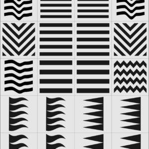 Трафареты X-Color для аэрографии полоски, 24 шт.