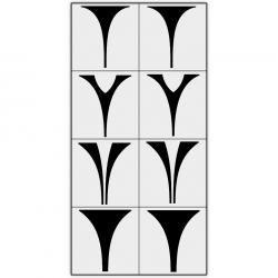 Трафареты X-Color для аэрографии, сет-06