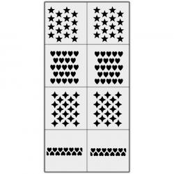 Трафареты X-Color для аэрографии, сет-12