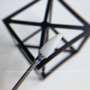 Керамическая фреза для снятия материала синяя, кукуруза (ДЛЯ ЛЕВШЕЙ)