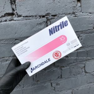 Перчатки нитриловые Nitrile 100 шт (50 пар) розовые, размер XS