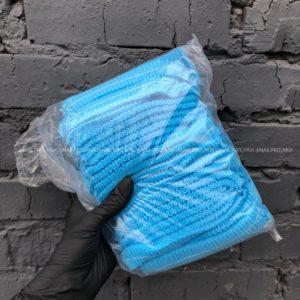 Шапочки защитные голубые, 100 шт.