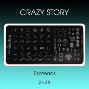 Пластина для стемпинга «Crazy story», Esoterics