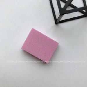 Мини-баф 2 для маникюра 100/180 грит, розовый