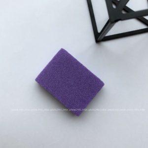 Мини-баф 2 для маникюра 100/180 грит, фиолетовый