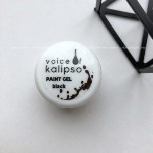 Гель-краска Voice без липкого слоя чёрная, 5 мл.