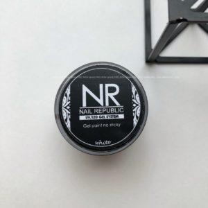 Гель-краска Nail Republic без липкого слоя белая, 5 гр.