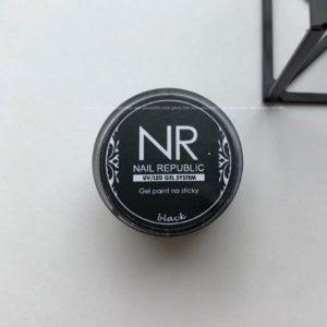 Гель-краска Nail Republic без липкого слоя чёрная, 5 гр.