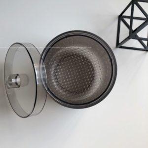 Контейнер для дезинфекции боров и фрез, серый