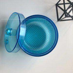 Контейнер для дезинфекции боров и фрез, голубой