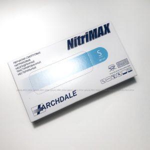 Перчатки нитриловые NitriMax 100 шт (50 пар) голубые, размер S
